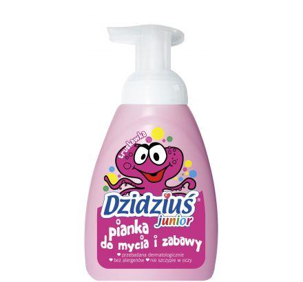 Pianka do mycia i zabawy o zapachu truskawki Dzidziuś