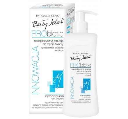 Specjalistyczna, hipoalergiczna emulsja do mycia twarzy z probiotykiem Biały Jeleń PRObiotic