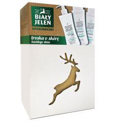 Kosmetyki Biały Jeleń hipoalergiczny- zestaw myjący kozie mleko