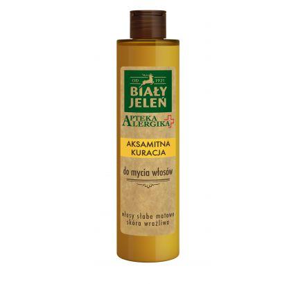 Biały Jeleń aksamitna kuracja do mycia włosów Apteka Alergika 250 ml