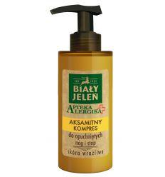 Biały Jeleń aksamitny kompres do opuchnietych nóg i stóp Apteka Alergika 150 ml