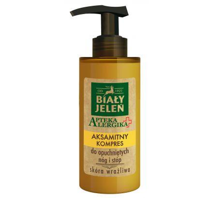 Aksamitny kompres do opuchnietych nóg i stóp BIAŁY JELEŃ Apteka Alergika 150 ml