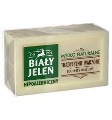 Biały Jeleń mydło naturalne w kostce SZARE MYDŁO 150 g