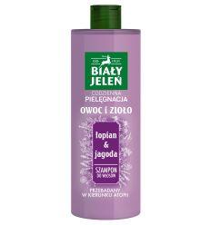 Biały Jeleń szampon do włosów OWOC I ZIOŁO łopian&jagoda400 ml