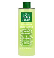Biały Jeleń szampon do włosów OWOC I ZIOŁO babka lancetowata&dzika jabłoń 400ml