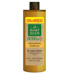Biały Jeleń aksamitna kuracja do mycia włosów Apteka Alergika 400ml (250ml + 150ml więcej)