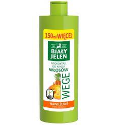 Biały Jeleń FITOkoktajl do mycia włosów marchew i dynia WEGE 400ml (250ml + 150ml więcej)