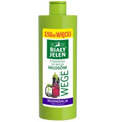 Biały Jeleń FITOkoktajl do mycia włosów burak i bakłażan WEGE 400ml (250ml + 150ml więcej)