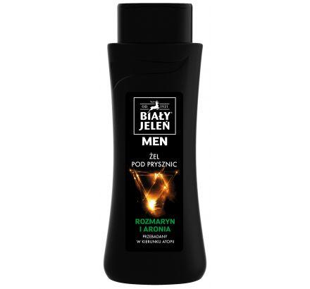Żel pod prysznic Biały Jeleń hipoalergiczny FOR MEN z rozmarynem i aronią