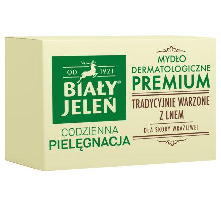 Mydło Premium z lnem w kartoniku Biały Jeleń hipoalergiczny