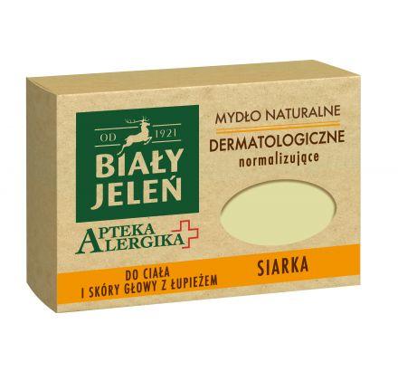 Biały Jeleń mydło dermatologiczne z siarkę Apteka Alergika 125 g
